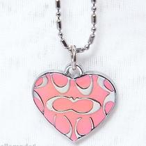 New Coach Silver Heart Necklace 20