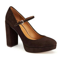 New Coach Sizes 8.5-9.5-10 Suede Mary Janes Platform Pumps Heels Brown Nwb Photo
