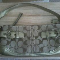 New  Coach Small Metallic Leather Purse  Photo