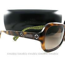 New Coach Sunglasses Hc8016 Ciara L008 Tortoise 5031/13 Authentic Photo