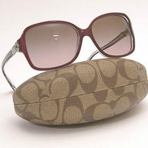 New Coach Sunglasses Model 8009 Frances 505114 Photo