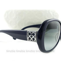 New Coach Sunglasses S2026 Navy Blue Authentic Photo