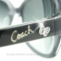 New Coach Sunglasses S2050 Black Authentic Photo
