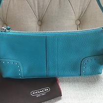 New Coach Turquoise Leather Handbag Photo