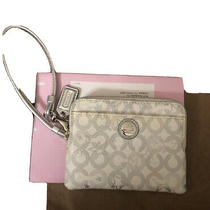 New Coach Wallet Waverly Snow Small Clutch 44447 White Silver W15 Photo