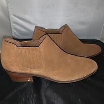 New Coach Womens Suede Ankle Boots Brown Tan Gold Size 10 Logo Photo