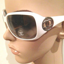 New Coco Chanel Sunglasses Authentic 6023 White Ch6023 Silver Cc Italy Womens Photo