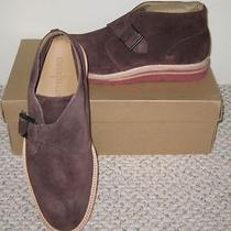 New Cole Haan Christy Wedge Monk Chukka Brown Suede Shoes Boots 8.5m 248 Photo