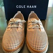New Cole Haan Cloudfeel Lace Up Espadrille Size 8 Toasted Almond Suede Photo