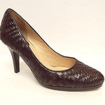New Cole Haan Size 8.5 Brown Woven Leather Heels Pumps Shoes Nike Air 8 1/2 Photo