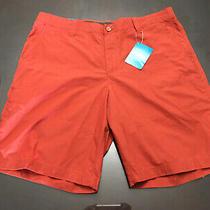 New Columbia Mens Modern Classic Shorts Size 40 Rust Photo