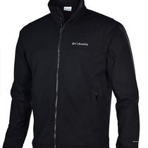 New Columbia Men's Mt. Village Softshell Jacket L Black Photo