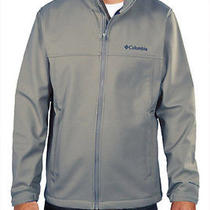New Columbia Men's Mt. Village Softshell Jacket L Gray Photo
