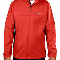 New Columbia Men's Mt. Village Softshell Jacket L Red Photo