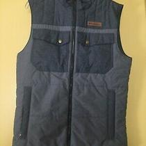New Columbia Mens Vest Insulated Water Resistant Grey Small 100  Photo