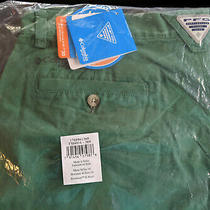 New Columbia Pfg Bonehead Ii Men's 36 X 10 Shorts Emerald Green Fishing Hiking Photo