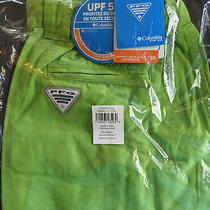 New Columbia Pfg Brewha Ii Men's Fishing Water Shorts M (32 33 34 35) Lime Green Photo