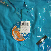 New Columbia Pfg Mens Tamiami 1x Short Sleeve Shirt Aqua Blue Big Xl Fishing Nwt Photo