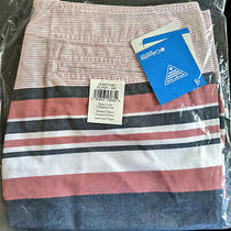 New Columbia Pfg Solar Fade Women's Shorts Size 14 X 4 Sunset Red Stripe Nwt Photo