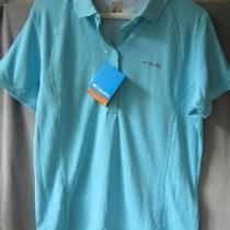 New Columbia Womens Skiff Guide Polo Shirt Fishing Nwt Pfg Omnishade Size L Photo
