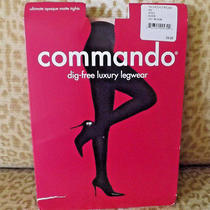 Newcommando Sz M Opaque Matte Tights Black Photo