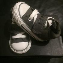 New Converse Ct Strap Mid Charcoal/blk  Shoe Infant Size 3 Infants  727569f Photo