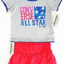 New Converse Girls Shirt & Skirt 2pc Set 12 Months Msrp 34 Nwt Photo