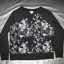New Converse One Star Top Size Large Black Print French Terry Sweatshirt Target Photo