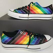 New Converse Pride Chuck 70 Low Sneakerblack Rainbow Size 9 Men 11 Women Photo