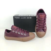 New Converse Sneakers Big Boys Shoes Burgundy Size 3 Youth (22 Cm) Photo