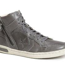 New Converse X by John Varvatos Jv Weapon Zip High Top Sneakers Charcoal 11m  Photo