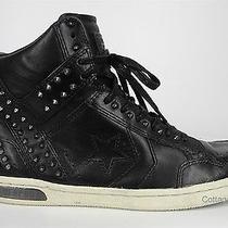 New Converse X by John Varvatos Weapon Mid Black Studded Sneaker Sz 8 139716c  Photo