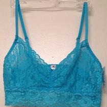 New Cosabella Amore Lace Long Bralette River Blue Size Medium Photo
