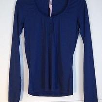 New Cosabella Amore My Love Long Sleeve Top Sleepshirt M Mylov1801 Navy Blue Photo