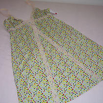 New Cosabella Lace Inset Teddy Nightie Slip Green Confetti Dots Medium Nwt's Photo
