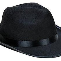 New Costume Plastic/felt Kangaroo Black Fedora Gangster Hat Photo