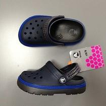 New Crocs Kids Cobbler Clogs Blue Shoes Size 8/9 Navy/graphite Slip on Shoes Photo