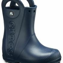 New Crocs Kids Handle It Rain Boot Pull-on Boot Shoes Size 13 C Navy Tags Photo