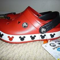 New Crocs Red Mickey Mouse Girls  Boys Size 1 Photo
