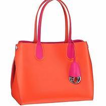 New Cruise 2015 Dior Addict Small Shopping Bag Orange Calfskin Fusia Detail  Photo