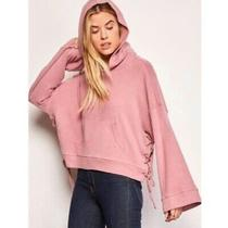 New Cupcakes and Cashmere Kadin Slouchy Hoodie M Blush Pink Cozy Boho Oversized Photo