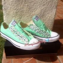 New Custom Bling Converse Aka Sneakers Any & Color Women Size 7 Photo