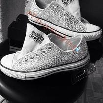 New Custom Bling Converse Sneakers Any & Color Women  7.5 Photo