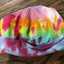New Custom Boutique Cotton Beanie Tie Dye Hat 9-18 Months Lilac Pink Black Aqua Photo