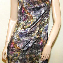 New Cut 25 by Yigal Azrouel 4 Small Cowl Neck Dress Buckle Amethyst Sleeveless Photo