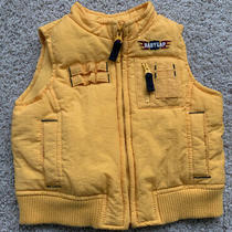 New  Cute Baby Gap Boy's Yellow Puffer Cargo Vest Size 6-12 Photo