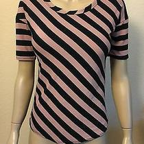 New Cute Hi Lo Dusty Pink and Black Top Size Small h&m Forever 21 Photo