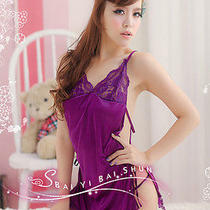 New Cute Purple Lovely Women Lady Girl Hot Sexy Lingerie Fantasy Underwear 1152 Photo