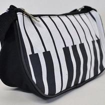 New Cute Trendy Handbag Piano Keys Music Mini Purse Hobo Bag Clutch Black White Photo