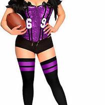 New Daisy Corsets Football Fantasy Purple Xl Viking Sexy Women's Deluxe Costume Photo